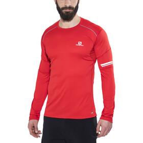 Salomon Agile - Camiseta manga larga running Hombre - rojo